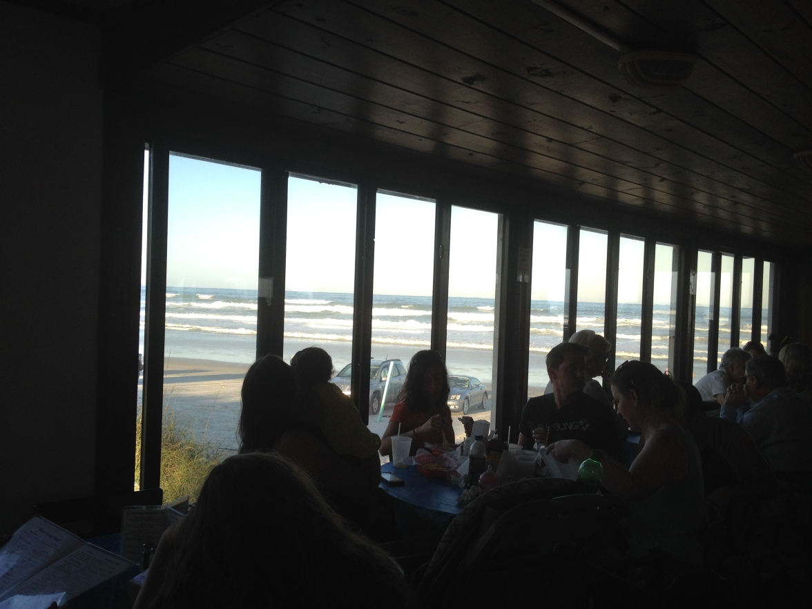 One of my favorite views is from inside the beach bar.